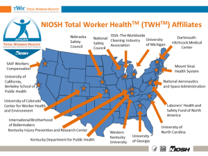 The Center for Health, Work, and Environment is recognized by the CDC as one of its Total Worker Health affiliates.