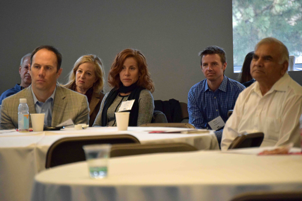 Several digital health entrepreneurs were present, including Dr. Lauren Constantini (center right) of Prima-Temp.