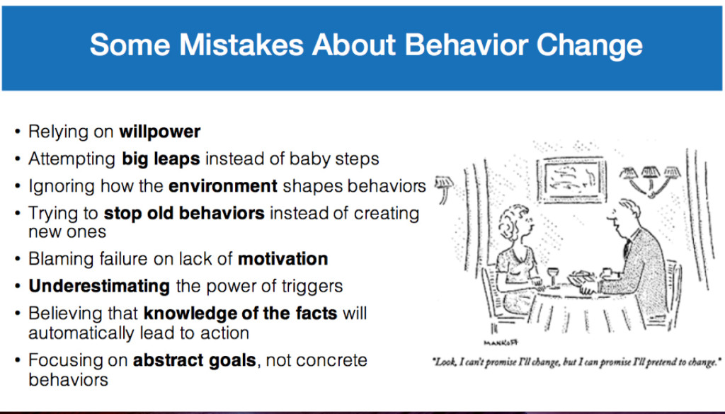 "A list of common product design mistakes from Sunil Maulik's presentation ""Driving Healthy Habits Through Behavioral Product Design."""