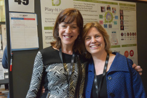 Dr. Kim Gandy (right), the founder of Play-It Health