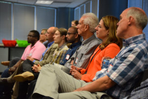 Eighty entrepreneurs gathered at the Innovation Pavilion in Centennial, Colorado to hear Potters speak.