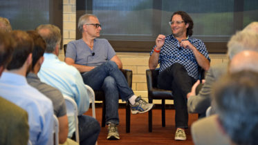 Jerry Colonna (left) and Brad Feld spoke candidly about their struggles with depression at Making Mental Health a Priority.